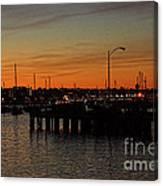 San Diego Harbor Sunset Canvas Print