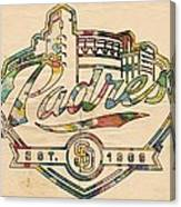 San Diego Padres Memorabilia Canvas Print
