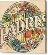 San Diego Padres Poster Art Canvas Print