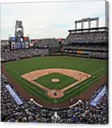 San Diego Padres V Colorado Rockies Canvas Print