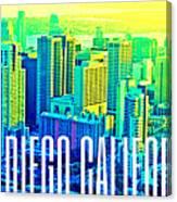 San Diego Postcard Canvas Print