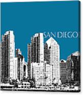 San Diego Skyline 1 - Steel Canvas Print