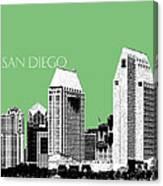 San Diego Skyline 2 - Apple Canvas Print