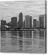 San Diego Skyline Sunrise Monochrome Canvas Print
