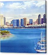 San Diego Skyline With Meridien Canvas Print