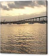 San Diego To Coronado Card Canvas Print