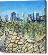 San Francisco And Flowery Vagabond Path Of Yesterday Canvas Print