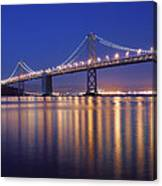 San Francisco Bay Bridge At Twilight Canvas Print