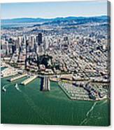 San Francisco Bay Piers Aloft Canvas Print