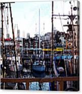 San Francisco Behind The Masts Canvas Print