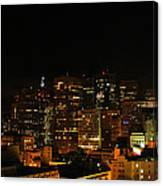 San Francisco By Night Canvas Print