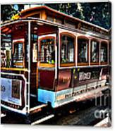 San Francisco Cable Car Painting Canvas Print