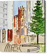 San Francisco - California Sketchbook Project Canvas Print