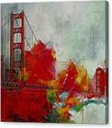 San Francisco City Collage Canvas Print