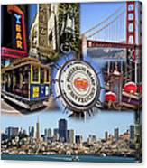 San Francisco Collage Canvas Print