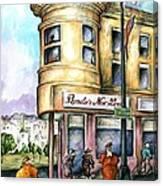 San Francisco North Beach - Watercolor Art Canvas Print