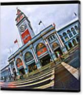 San Francisco Ferry Building Giants Decorations. Canvas Print