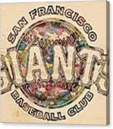 San Francisco Giants Poster Vintage Canvas Print