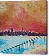 San Francisco Golden Gate Bridge In The Clouds Canvas Print