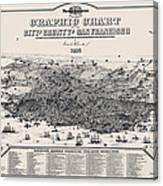 San Francisco Graphic Map 1875 Canvas Print