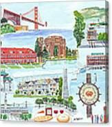 San Francisco Highlights Montage Canvas Print