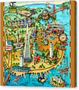 San Francisco Illustrated Map Canvas Print