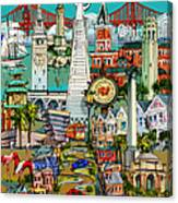San Francisco Illustration Canvas Print