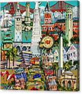 San Francisco Illustration Canvas Print