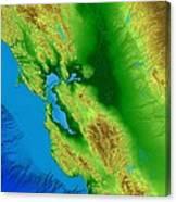 San Francisco Map Art Canvas Print