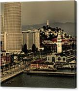San Francisco Pier From The Bridge Canvas Print