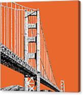 San Francisco Skyline Golden Gate Bridge 2 - Coral Canvas Print