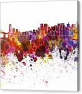 San Francisco Skyline In Watercolor On White Background Canvas Print