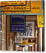 San Francisco Street Shops Canvas Print