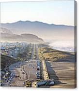 San Francisco Morning - The Great Highway Ocean Beach Canvas Print