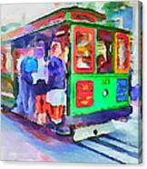 San Francisco Trams 3 Canvas Print