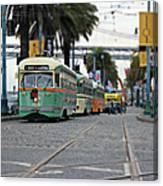 San Francisco Trolleys Canvas Print