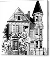 San Francisco Victorian Canvas Print