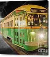 San Francisco Vintage Cable Car Canvas Print