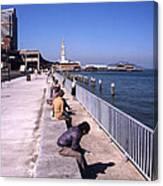 San Francisco Waterfront 1975 Canvas Print