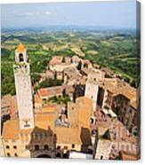 San Gimignano From The Top Of A Tower Canvas Print