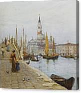San Giorgio Maggiore From The Zattere Canvas Print