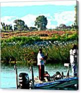 San Joaquin River Fish'n Canvas Print