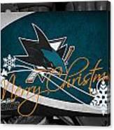 San Jose Sharks Christmas Canvas Print