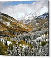 San Juan Mountains After Recent Snowstorm Canvas Print