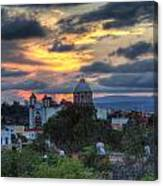 San Miguel De Allende Sunset Canvas Print