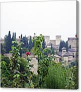San Nicolas View Of The Alhambra On A Rainy Day - Granada - Spain - Spain Canvas Print