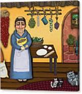 San Pascuals Kitchen 2 Canvas Print