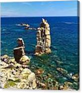 San Pietro Island - Le Colonne Cliff Canvas Print