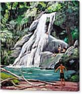 San Sebastian Waterfall Canvas Print