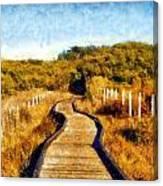 San Simeon Boardwalk Canvas Print